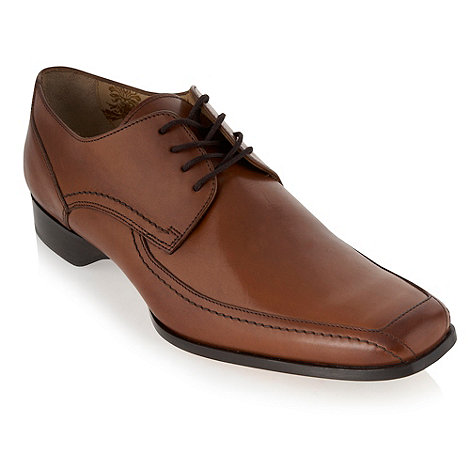 Loake - Tan leather apron shoes