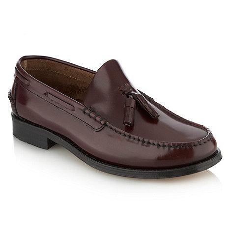 Loake - Dark red tasselled shoes