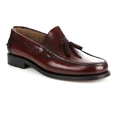 Loake - Plum fringe tassel slip-on shoes