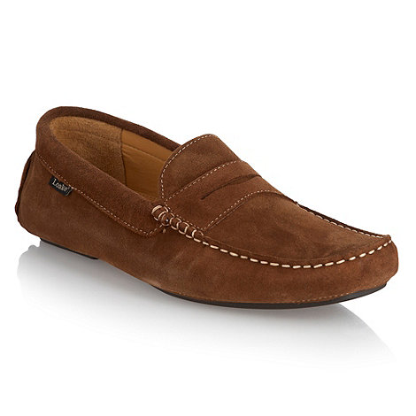 Loake - Tan contrasting top stitched slip on shoes