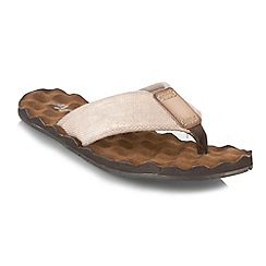 Mantaray - Brown wavy textured sandals