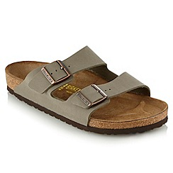Birkenstock - Tan branded double buckled sandals