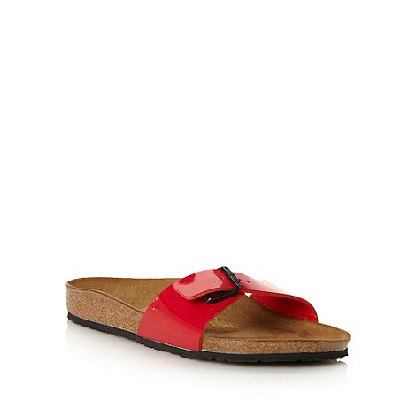 Birkenstock - Red +Madrid+ flip flops