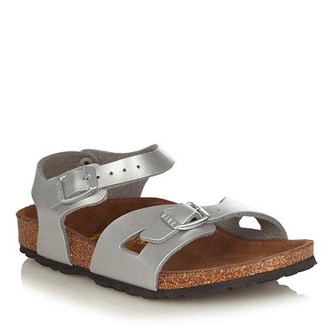Birkenstock - Silver buckle fastening sandals