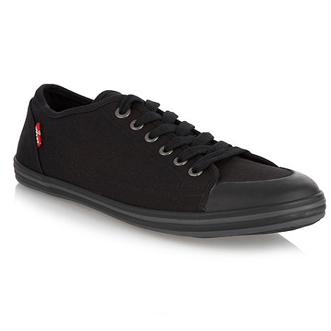 Levi+s - Black logo canvas trainers