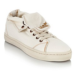 Levi's - White turnover canvas trainers