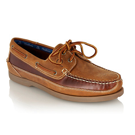 Chatham Marine - Tan G2 leather lace boat shoes