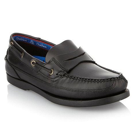 Chatham Marine - Black G2 leather boat shoes