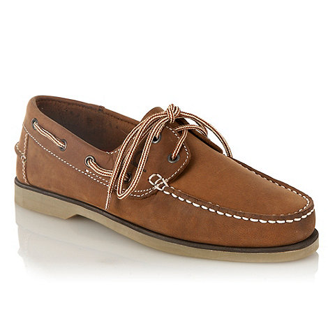 Chatham Marine - Tan suede lace boat shoes