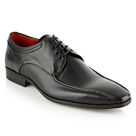 Jeff Banks - Designer black lace up leather shoes
