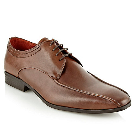 Jeff Banks - Designer brown lace up leather shoes