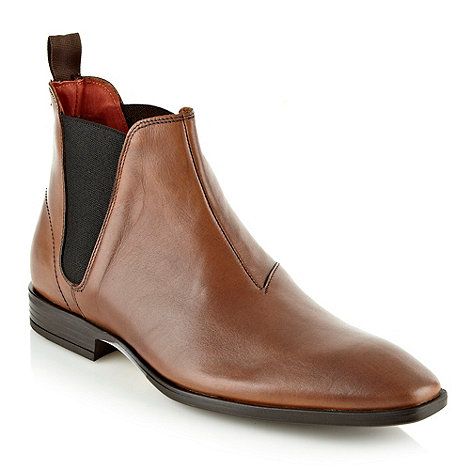 Jeff Banks - Designer tan leather chelsea boots