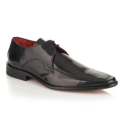 Jeff Banks - Designer black pointed leather shoes