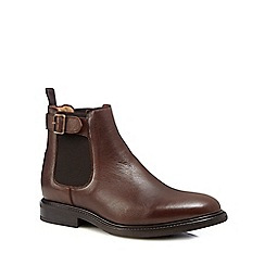 Jeff Banks - Brown leather 'Harper' Chelsea boots