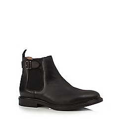 Jeff Banks - Black leather Chelsea boots