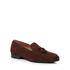 Jeff Banks - Dark brown suede tassel loafers