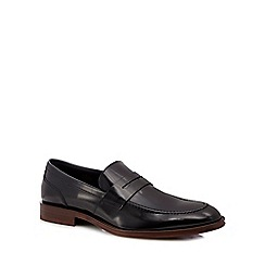 Jeff Banks - Black 'Rowling' leather penny loafers