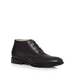 Jeff Banks - Black grained leather chukka boots