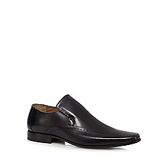 Jeff Banks - Black punched slip-on shoes