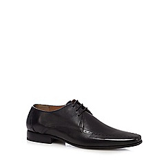 Jeff Banks - Black punched Derby shoes