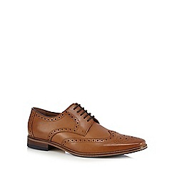 J by Jasper Conran - Tan leather wingtip brogues