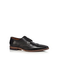 J by Jasper Conran - Black leather wingtip brogues