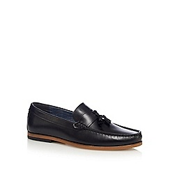 Red Herring - Black tasselled leather loafers