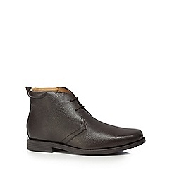 Henley Comfort - Dark brown 'Idle' wide fit Chukka boots
