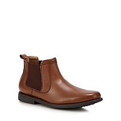 Henley Comfort - Tan 'Palin' leather chelsea boots