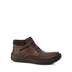 Henley Comfort - Brown leather 'Nile' wide fit lace up boots