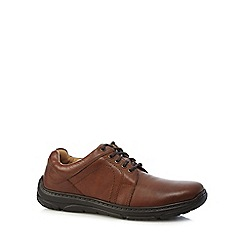 Henley Comfort - Tan leather 'Como Casual' wide fit lace up shoes