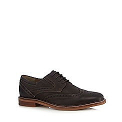 Henley Comfort - Dark brown leather lace up brogues