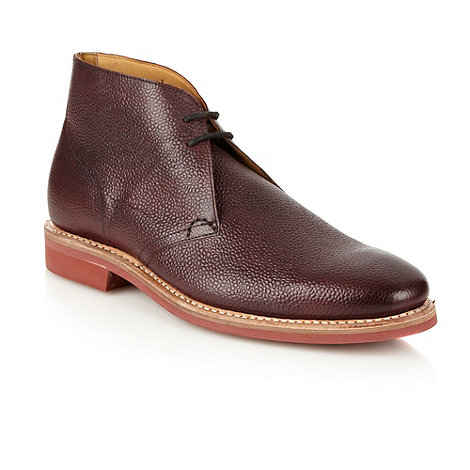Jeff Banks - Designer maroon shiny grain leather boots