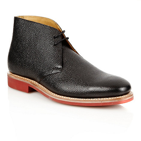 Jeff Banks - Designer black shiny grain leather boots