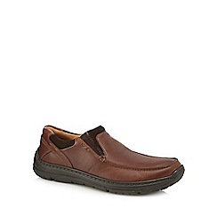 Henley Comfort - Brown leather slip on shoes