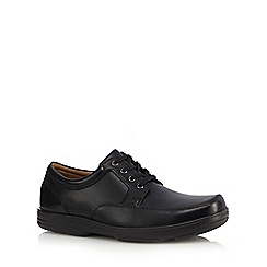 Henley Comfort - Black leather lace up shoes