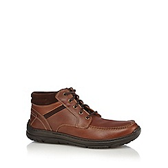 Henley Comfort - Tan leather lace up boots