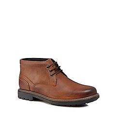 Maine New England - Brown leather 'Howard' Chukka boots