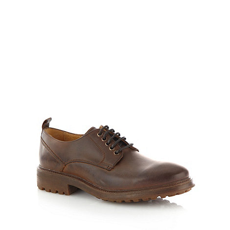 RJR.John Rocha - Designer brown leather five eyelet lace up shoes