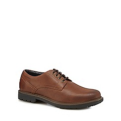 Maine New England - Tan leather Derby shoes