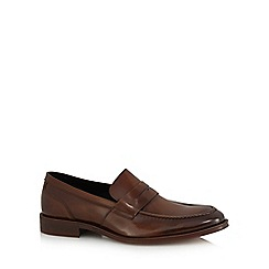 Jeff Banks - Tan patent leather loafers