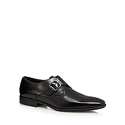 Jeff Banks - Black patent monk strap shoes
