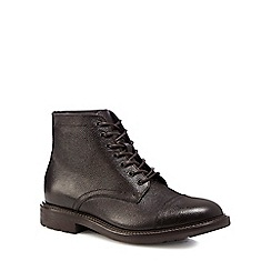 RJR.John Rocha - Dark brown 'Lambay' tumbled leather boots