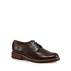 RJR.John Rocha - Designer dark brown leather brogue shoes