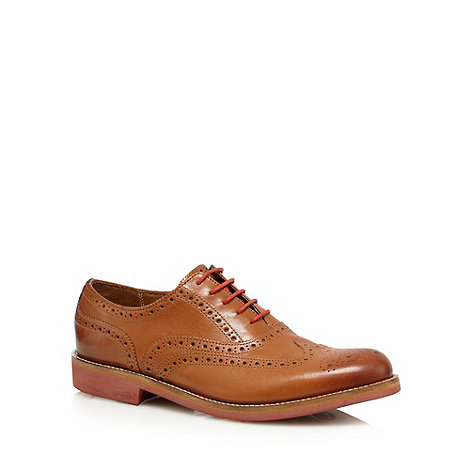 RJR.John Rocha - Designer light brown leather brogue shoes