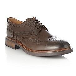 RJR.John Rocha - Designer dark brown leather brogue shoes