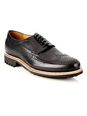 Designer black chunky soled brogues