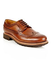 Designer brown chunky brogues
