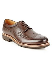 Designer dark brown chunky soled brogues