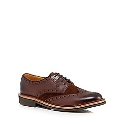 RJR.John Rocha - Brown 'Exmoor' suede and leather brogues